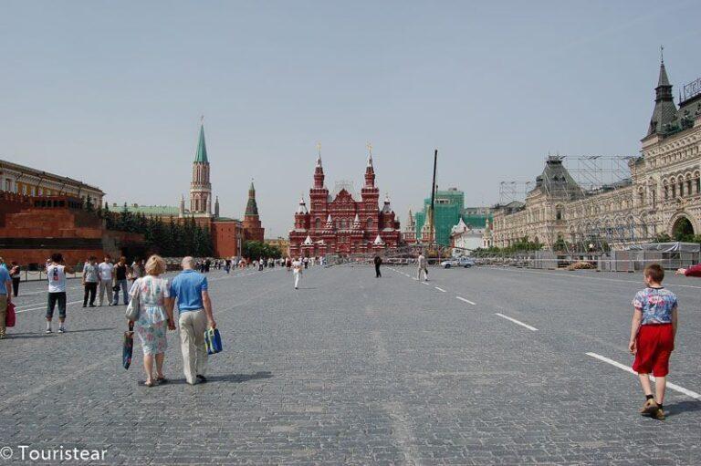 La Plaza Roja de Moscú y el Kremlin