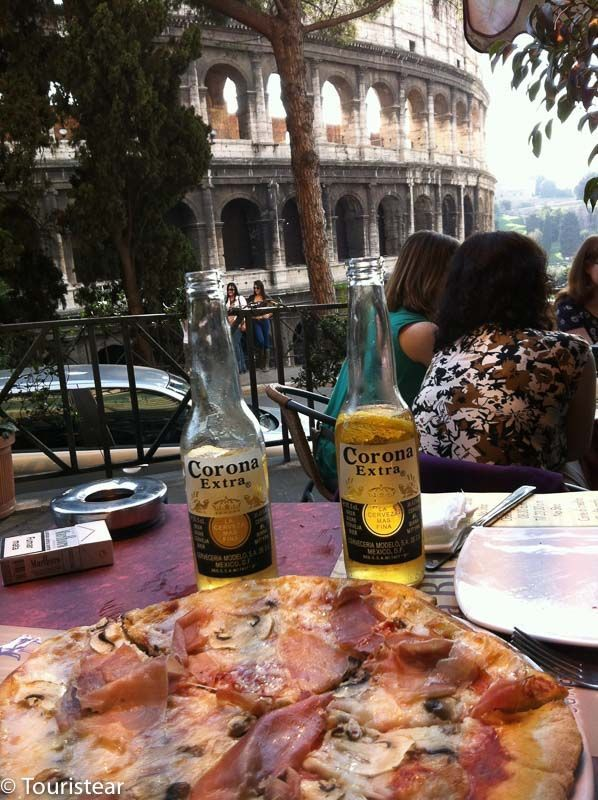 roma, coliseo, italia, pizza