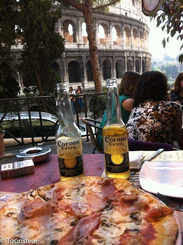 roma, coliseo, italia, pizza