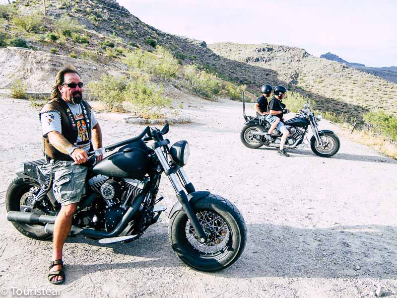 Route 66 bikers on the way to Oatman