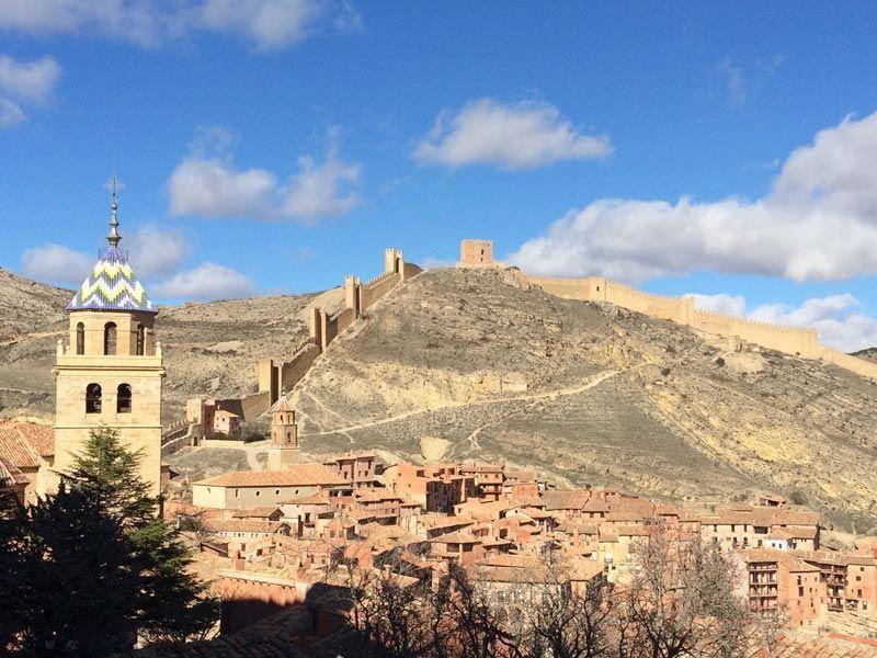 Albarracín, Teruel, vistas de la ciudad