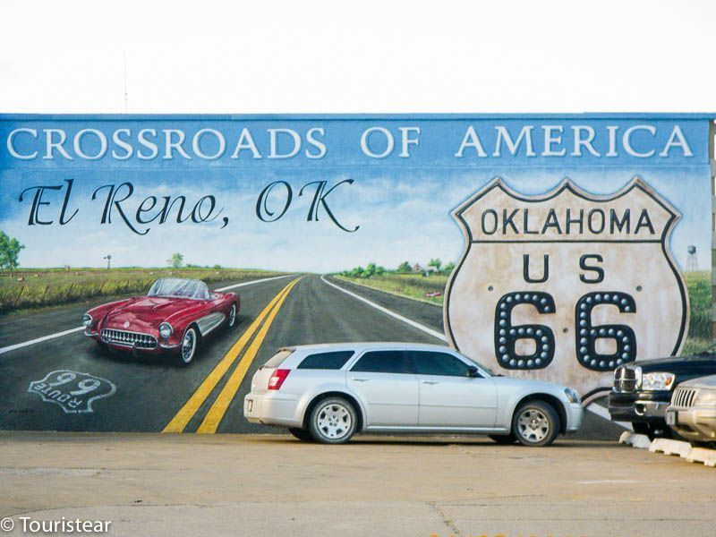 Route 66. What to see from Clinton to Bristow.