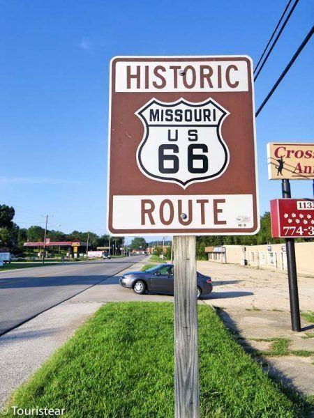 Historic Route 66 Missouri sign