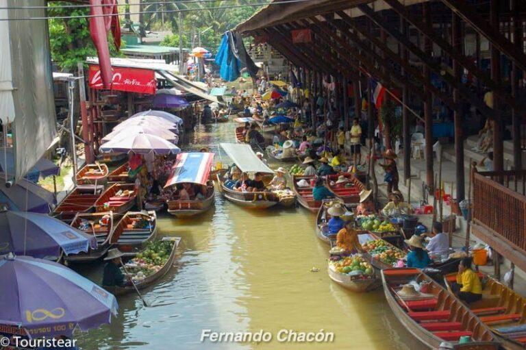 Mercado flotante de Amphawa, Tailandia