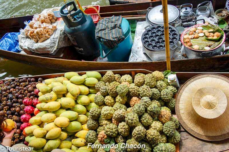 Tailandia, balsa de frutas, mercado flotante de amphawa, trucos de fotografia