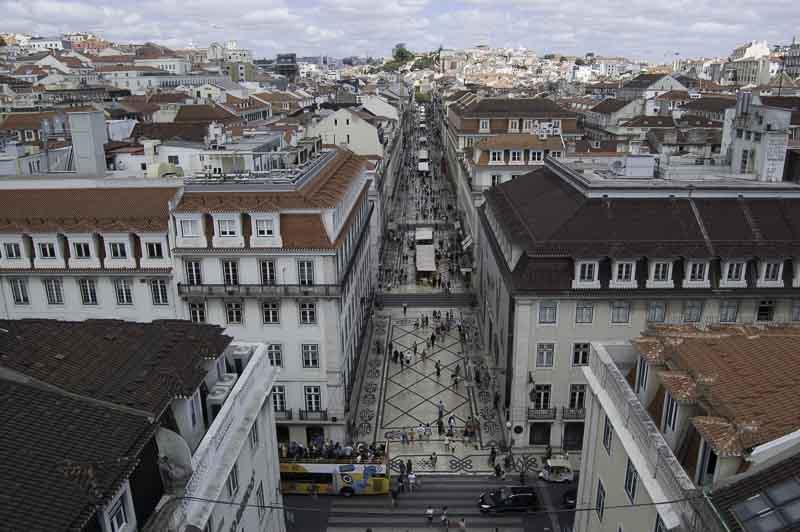 Lisboa desde el arco de Rua Augusta. Portugal