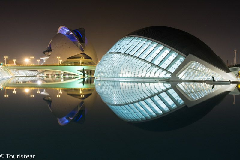 Valencia la ciudad de las artes de noche