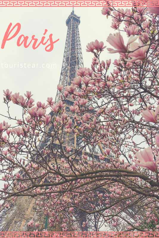 to see in Paris, the Eiffel Tower in spring