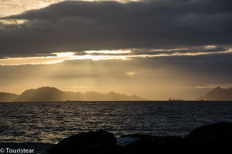 Atardecer playa Samil, Vigo