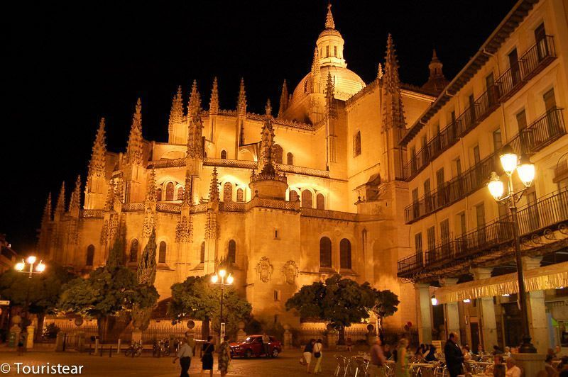 Segovia Cathedral Night