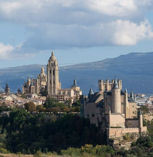 Segovia in one day - view of the Alcazar