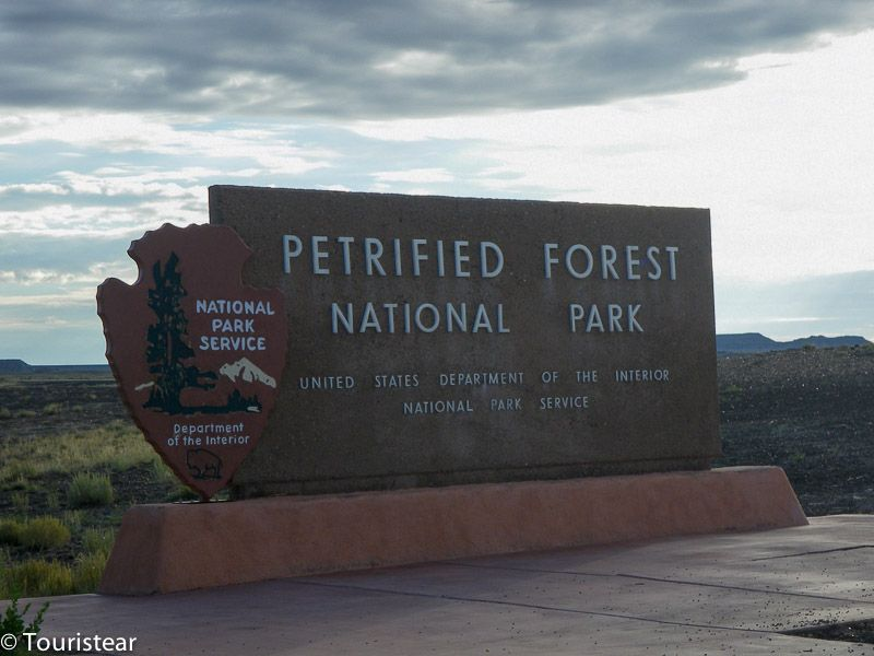 Entrada al Petrified Forest
