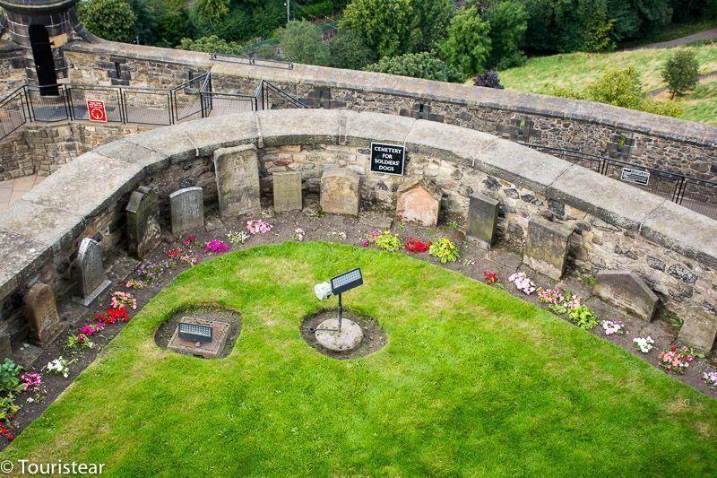 Castillo de edimburgo, cementerio de perros soldados