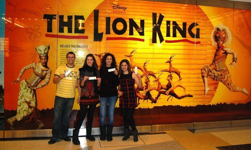New York, New Year's Eve, the lion king in Manhattan