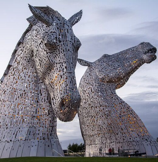 los kelpies de falkirk. Escocia