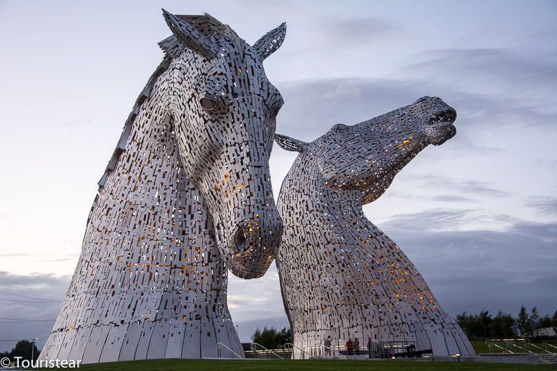 the kelpies of falkirk. Scotland