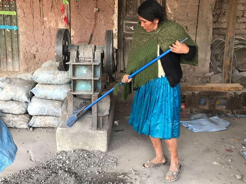 trabajadores minas potosi, bolivia