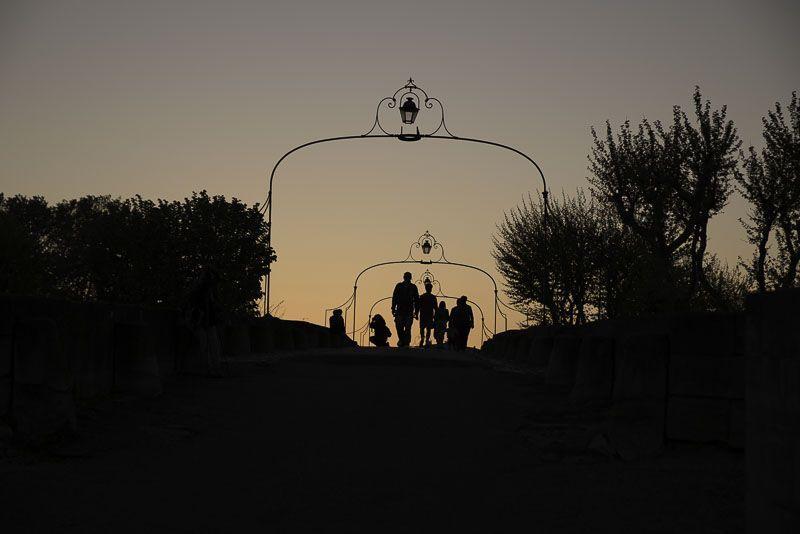 Carcasone puesta de sol Sur de Francia