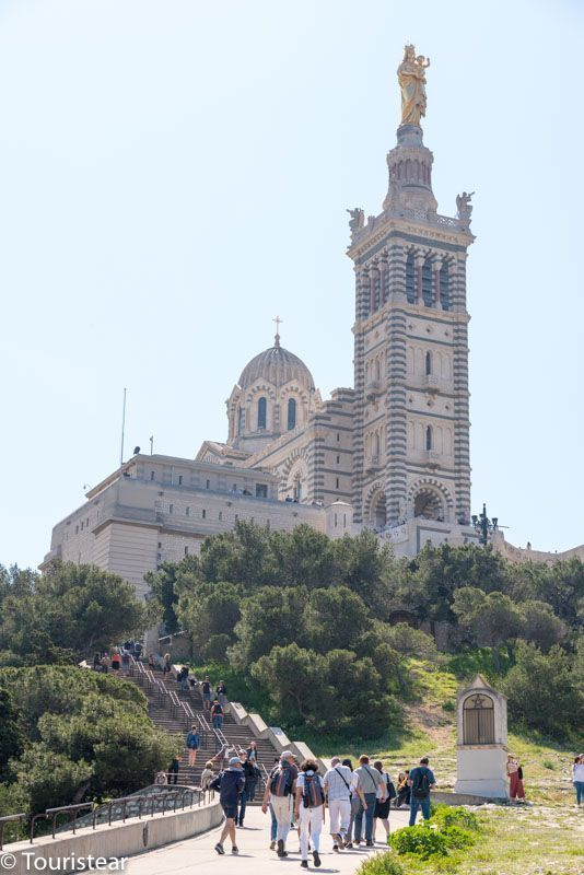 Marseille, Church of Notre Dame de la Garde seen from below
