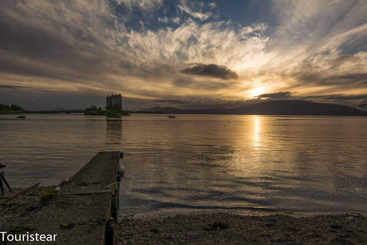 Fotografiar Paisajes, Stalker Castle. castillo de Escocia