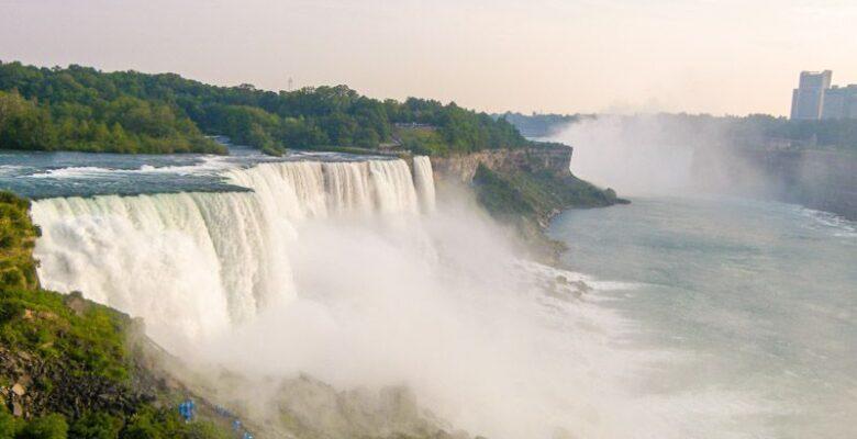 View of Niagara Falls from an overlook