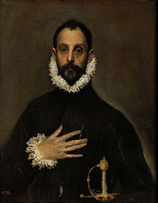 El caballero de la mano en el pecho El Greco Museo del Prado