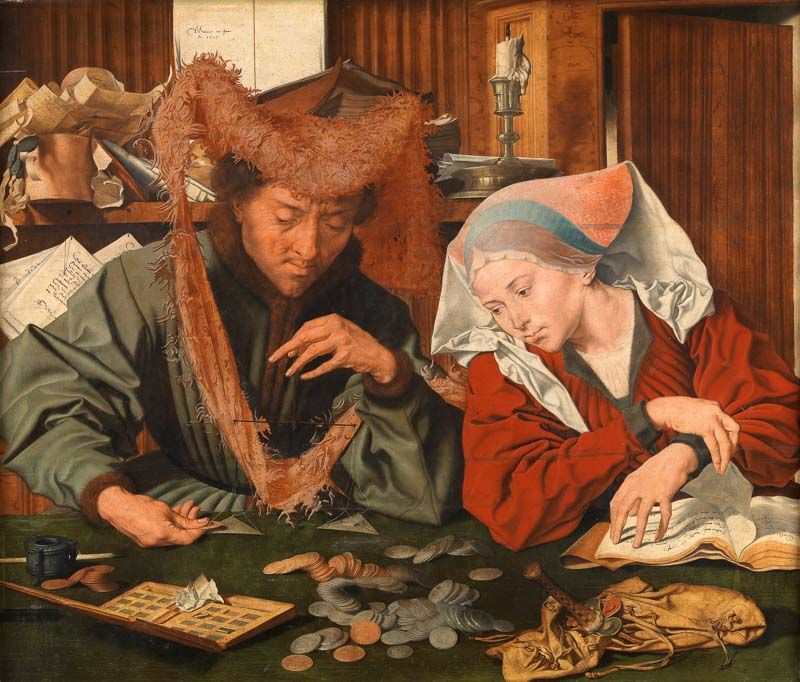 El cambista y su mujer Museo del Prado