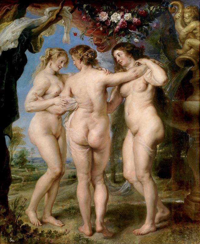 Las tres gracias Rubens Museo del Prado