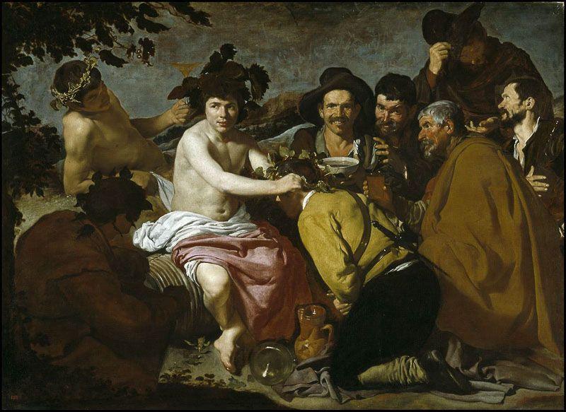 Los borrachos Diego Velazquez Museo del Prado