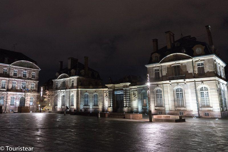 Estrasburgo, palacio rohan de noche