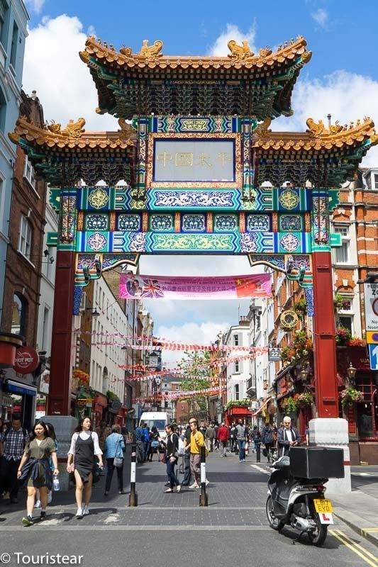 puertas del barrio chino, soho, londres