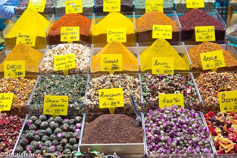 Especias en el mercado Egipcio