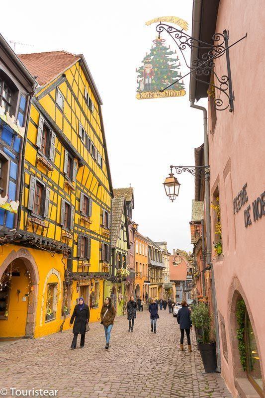 Riquewihr route through Alsace, France