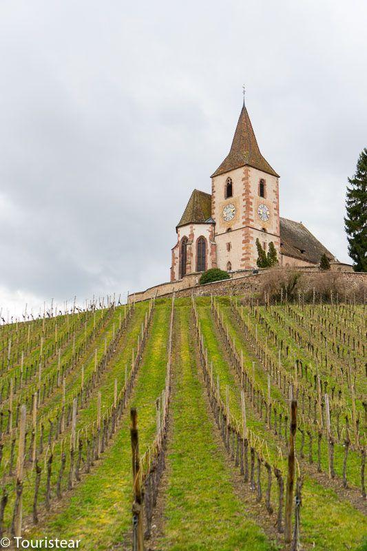 Iglesia de HUNAWIHR, ruta en coche por la Alsacia, Francia