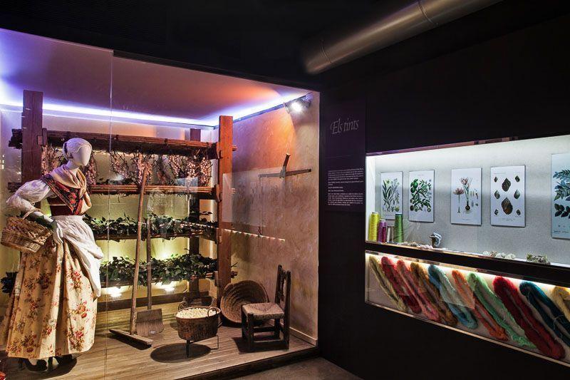 tintes del museo de la seda de valencia