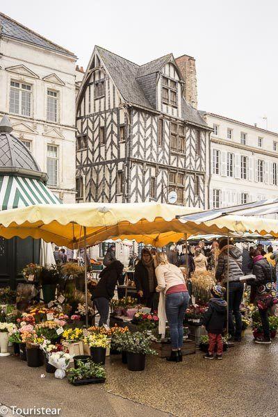 La plaza del mercado de la Rochelle