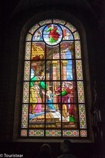 Stained glass windows of the Cathedral of La Rochelle, France