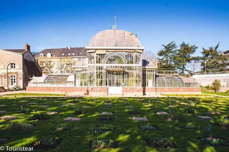 Invernadero del Jardin des Plantes, jardin de las plantas, Nantes