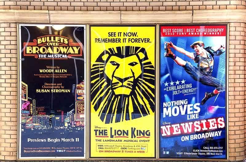 Musicales de Broadway, Nueva York