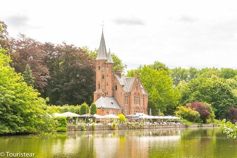 parque minnewater, lago del amor, puente del amor, Brujas, Bélgica