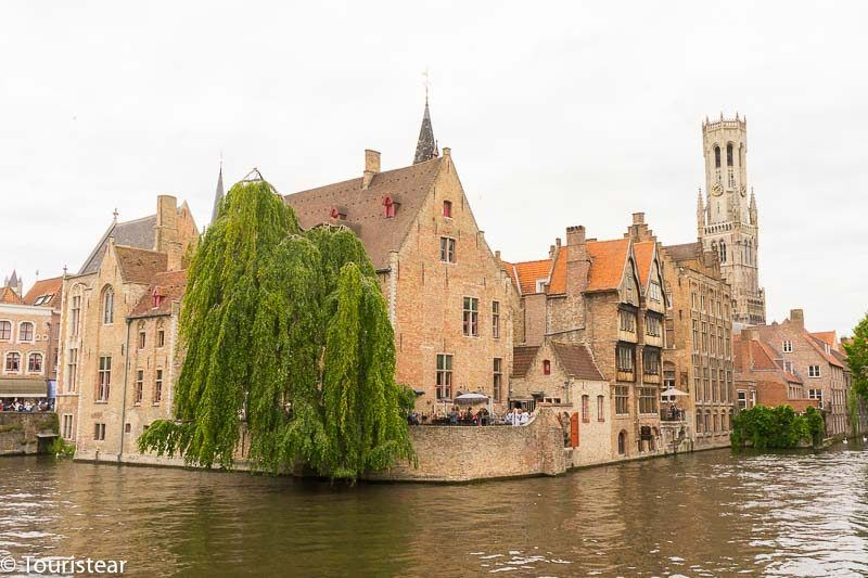 Bruges, Quay of the Rosary, the most photographed corner of Bruges, Belgium