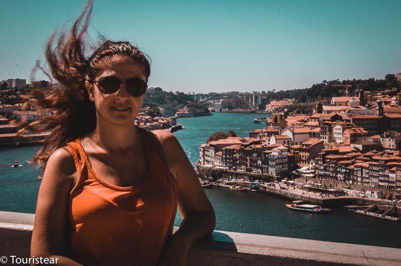 Vero desde el Puente Luis I de Oporto, Portugal