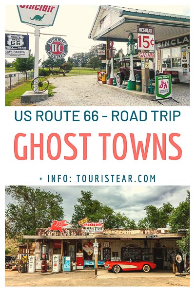Ghost towns on US Route 66, road trip mother road of America