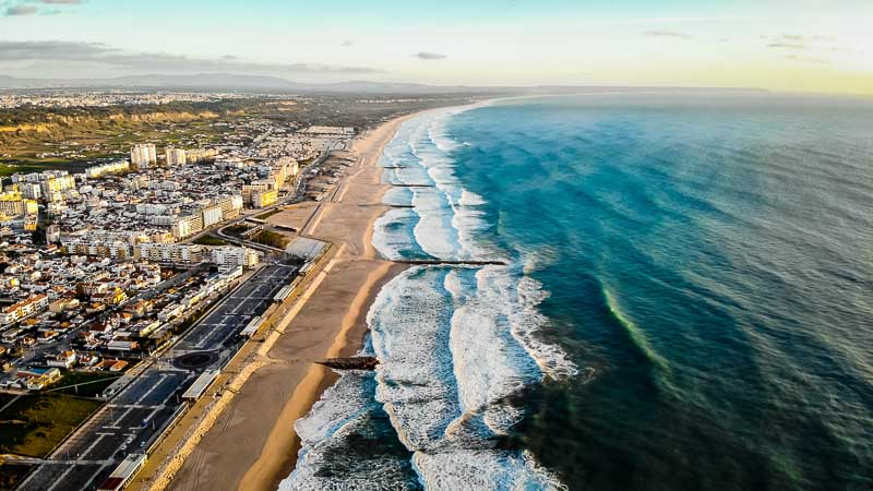 Caprica coast from a drone, places near Lisbon
