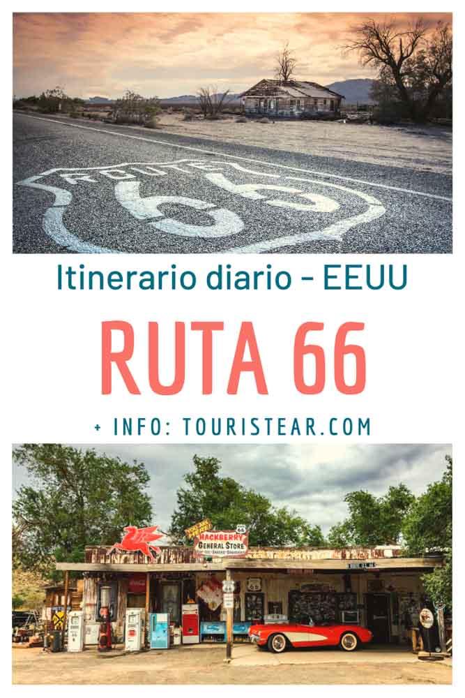 Itinerario diario ruta 66, Estados Unidos