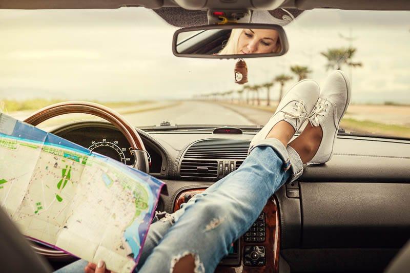 Los Angeles Route - San Diego by car rental