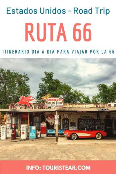 Itinerario dia a dia de la Ruta 66, Estados Unidos