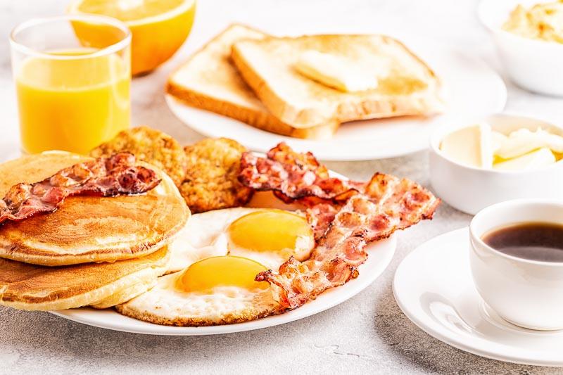 American road trip breakfast