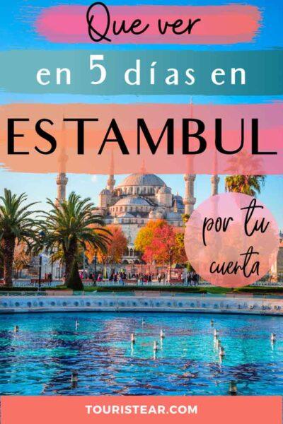 que ver en Estambul en 5 dias
