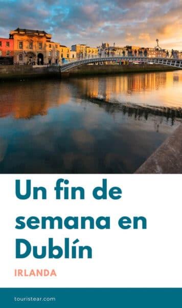 Ha'Penny Bridge al atardecer, Dublin